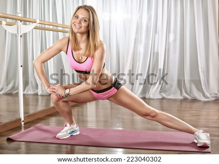 woman in gym  - stock photo