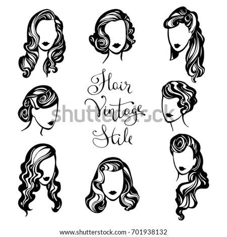 Vector Set Logos Barbers Beauty Salon Stock Vector ...