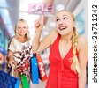 women shopping - 50 and 25 years old - stock photo
