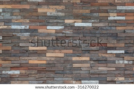 Wood material background for old Vintage wallpaper - stock photo