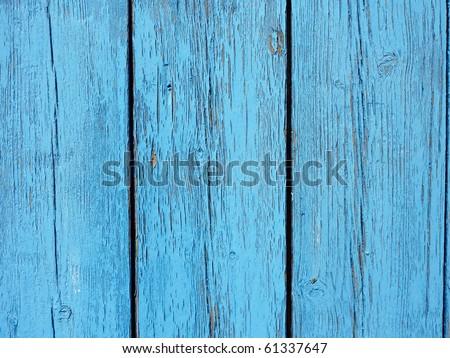 wood painted blue closeup,fisherman's boat house door detail - stock photo