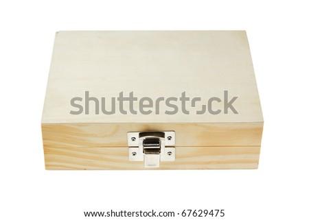 Wooden box. isolated on white background - stock photo