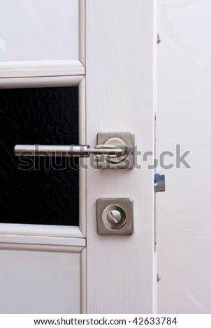 Wooden door with the lock