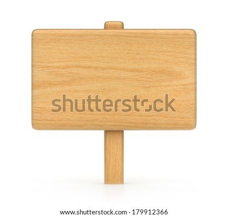 wooden plate - stock photo