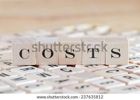 word on wood blocks - stock photo