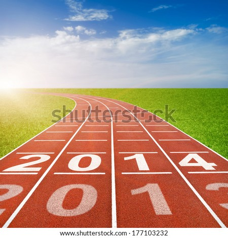 2014 written on running track