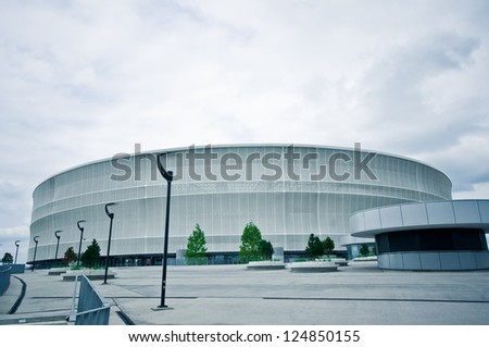 WROCLAW, POLAND - July 2: New soccer stadium. July 2, 2012 in Wroclaw, Poland .