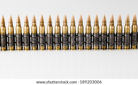 5.56x45mm NATO Tracer Bullets  - stock photo