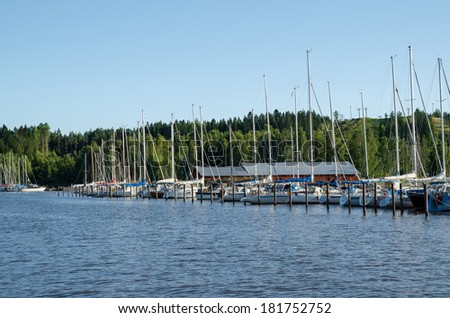 Yachts at the dock port  - stock photo