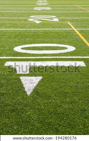 10 yard line - stock photo