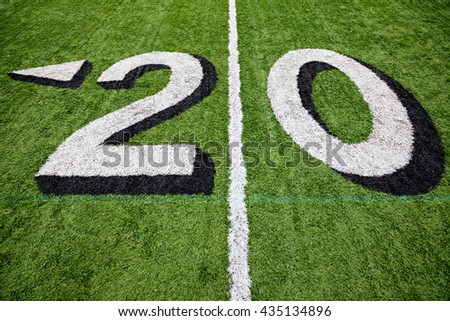 20 yard line - stock photo