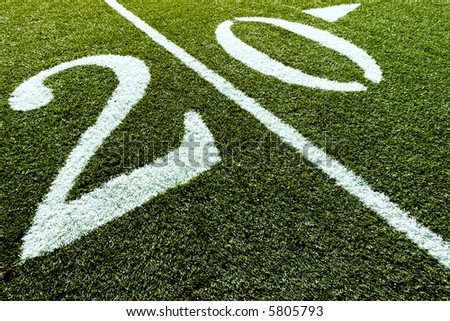 20 Yard Line up close shot - stock photo