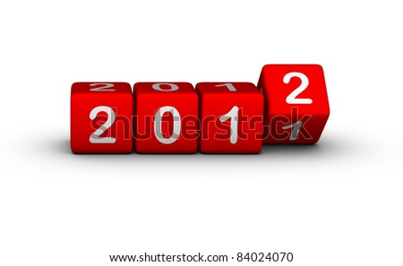 2012 year (design element for calendar, greeting cards, sales stickers)
