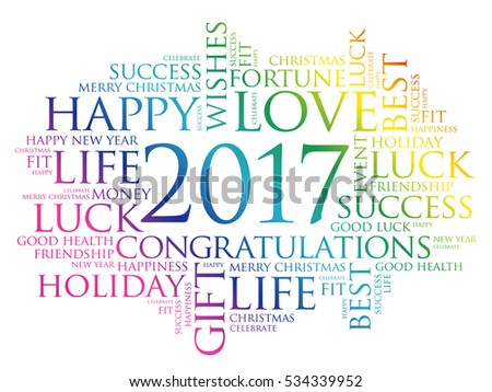 2017 year greeting word cloud collage stock illustration 534339952 2017 year greeting word cloud collage happy new year celebration greeting card m4hsunfo Image collections