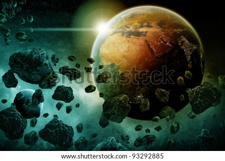 2012 year of apocalypse end of time - stock photo