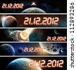 2012 year of the apocalypse - stock photo