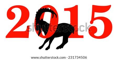 2015 Year Of The Goat - Stock Illustration - stock photo