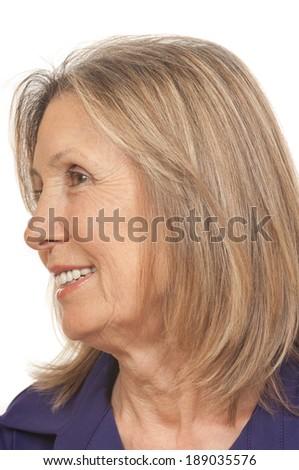 75 year old senior citizen - stock photo