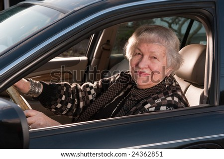 86 year old woman driving her car