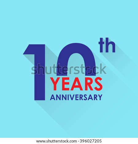 10 years anniversary icon invitation congratulation stock 10 years anniversary icon invitation and congratulation design template flat style illustration of 10th stopboris Image collections