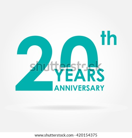 20 Years Anniversary Icon Template Celebration Stock Illustration