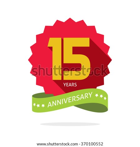 Anniversary candle 15 year old fifteen years anniversary celebration