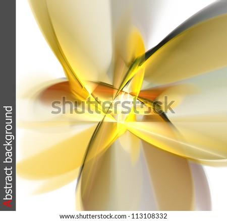 Yellow flower. Abstract illustration. - stock photo