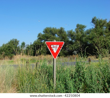 yield sign in country field