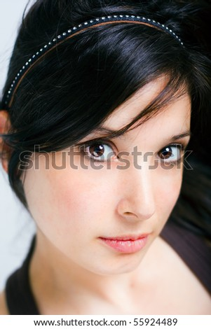 young beautiful woman face