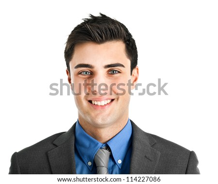 Young businessman portrait - stock photo