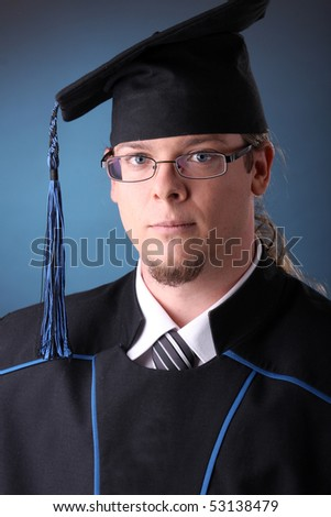 young man after his graduation