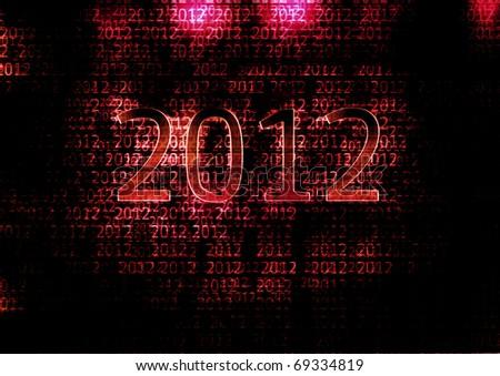2012 - stock photo