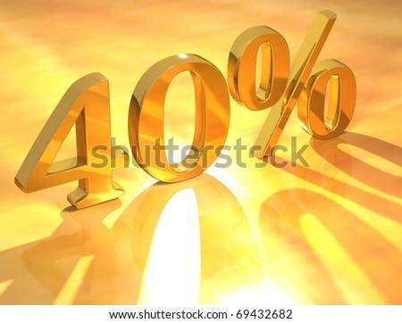 40 % - stock photo