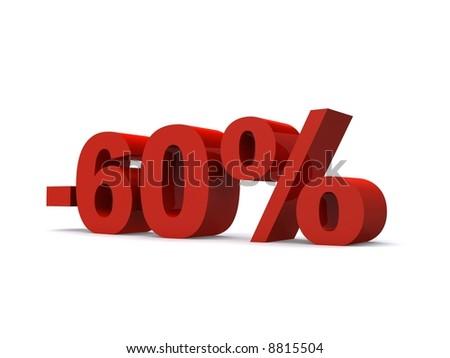 -60% - stock photo