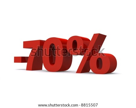 -70% - stock photo