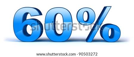 60% - stock photo