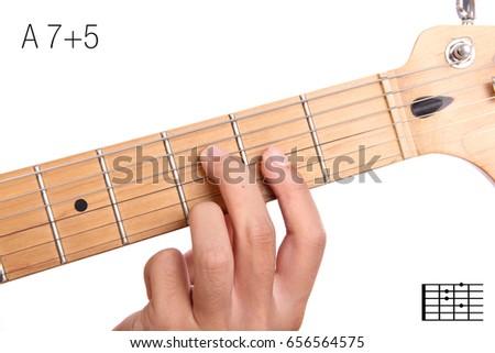 A 75 Advanced Guitar Keys Series Closeup Stock Photo (Safe to Use ...
