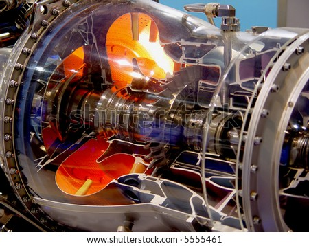 a aircraft jet engine detail - stock photo