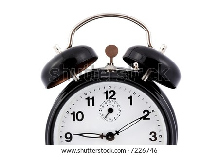 A alarm clock on white background