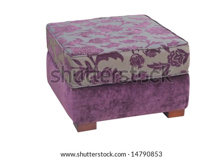 A armchair isolated on a white background with clipping path - stock photo