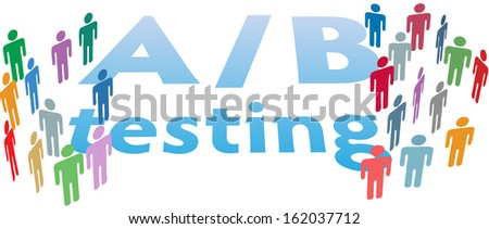 A B Testing website choices to test variations by experiment - stock photo