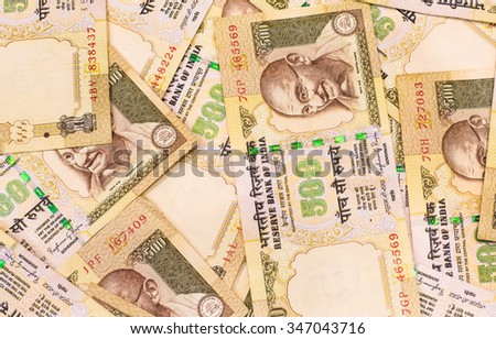 A background and texture of indian currency,money got profit from business - stock photo