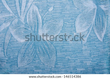 A background image of a blue hawaiian shirt - stock photo