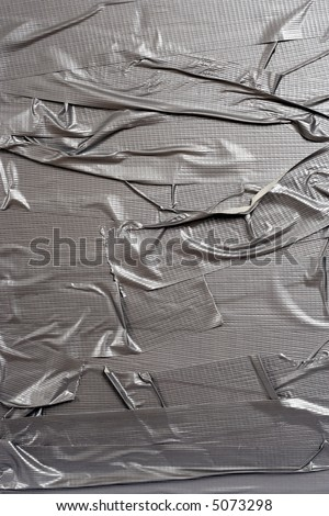 A background image of metallic duct tape.  Element image for do-it-yourself applications.
