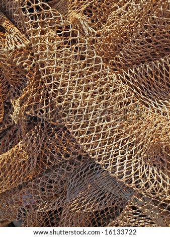 a background image of some fishing nets - stock photo