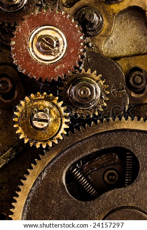 A background of a detailed view of gears from a machine.