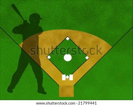 a background of baseball field - stock photo
