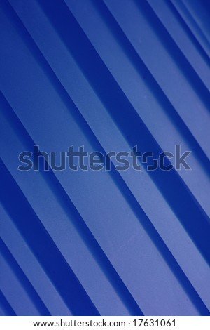 A background of blue diagonal stripes.