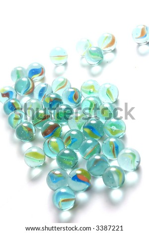 A background of colourful glass marbles - stock photo