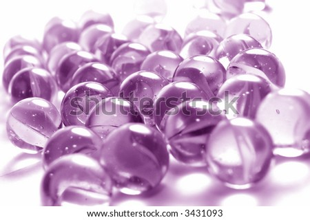 A background of colourful marbles - stock photo